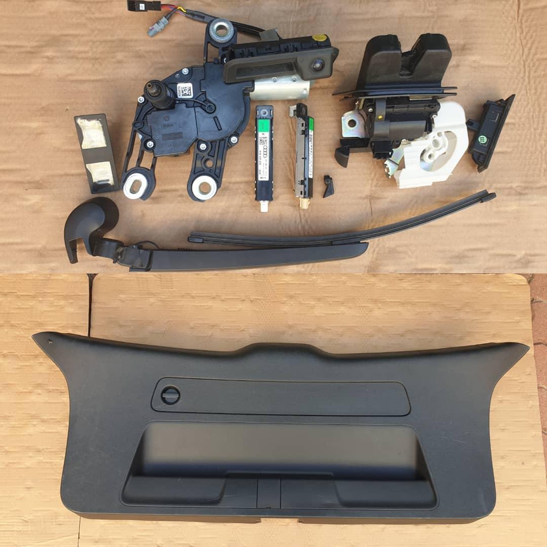 Audi Q2 Hayon: Plastice, broasca, stergator, pompite spalator, camera, lampi iluminare numar, motoras stergator, stergator, amplificator !