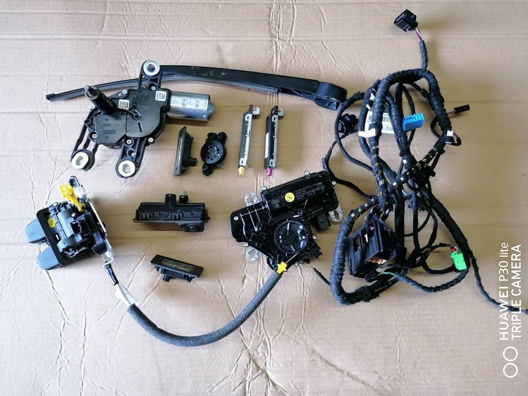 VW Touareg lll Mecanism hayon Stergator, motoras stergator, camera marsalier, broasca, iluminare numar, instalatie, buzzer senzor parcare si amplificator antena